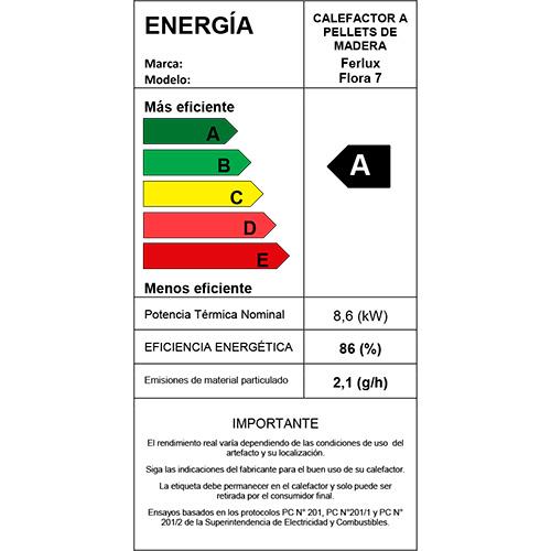 Placa Eficiencia Enegética Ferlux